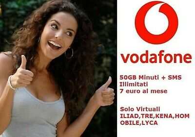 Passa A Vodafone Special Unlimited 50Gb Min+Sms Illim €7 No Tim E Wind Corriere!
