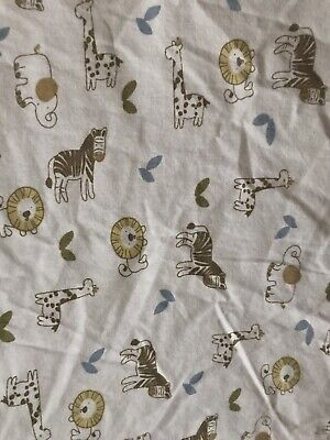 CoCaLo Jungle Animals Baby Fitted Crib Sheet Nursery Lion Zebra Elephant Giraffe