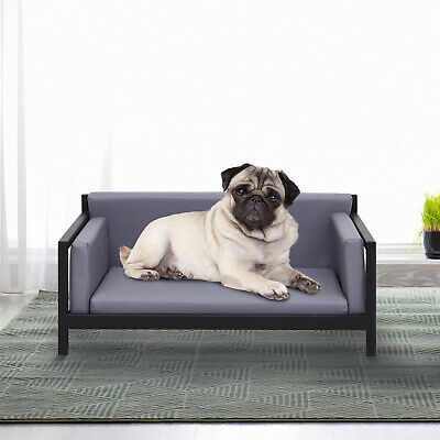 Deluxe PU Pet Sofa Couch Soft Dog Puppy Cat Bed Metal Frame 64 x 52 x 27.5 cm