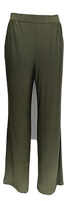 Linea by Louis Dell'Olio Women's Pants Sz S Moss Crepe Green A273877