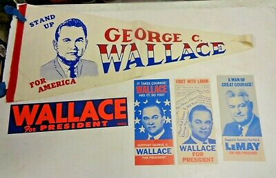 5 Piece 1968 George Wallace For President Collection