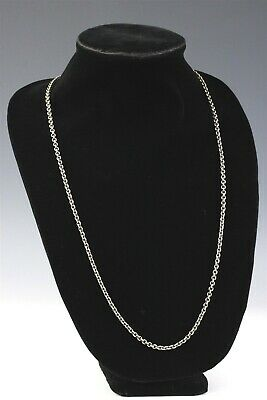 "Designer Signed GEORG JENSEN Sterling Silver Danish Modern 34"" Link Necklace MWG"