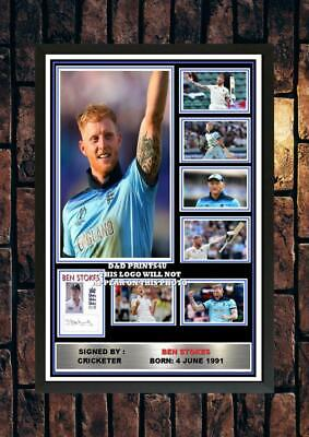 (#324) ben stokes england signed  a4 photo//framed (reprint) great gift +++