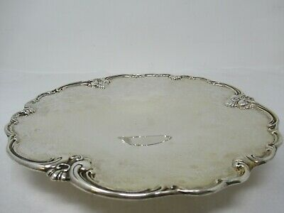 Sterling Silver Cake Platter Dish Tray on small pedestal 326 grams