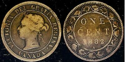 1882H Canada Large cent  obv 1A nice collectible coin Not graded