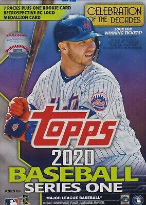 2020 Topps Series 1 Baseball sealed blaster box 7 packs of 14 MLB cards