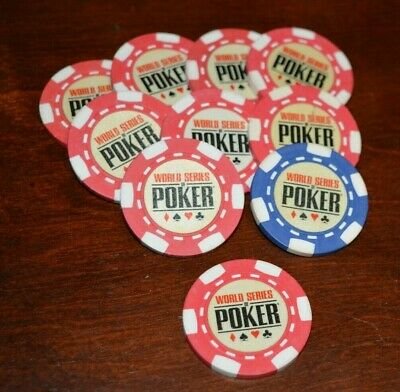 Casino Chip / Chips World Series Of Poker Bounty / Red Chip Protector Guard Lot