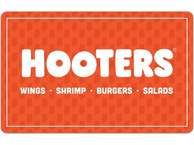Hooters E - Gift Cards (Combined Totals of $10 / $20 / $30) *Read Description*