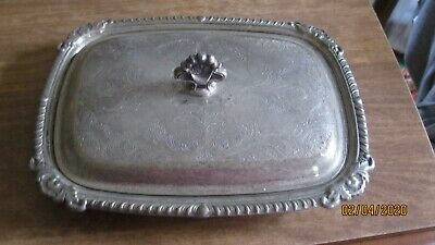 Old Pickle/Relish/Butter Dish Glass Insert English Silver Usa