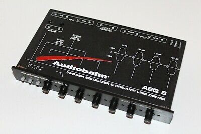Audiobahn Aeq8  4 Band Equalizer And Crossover Pre-Amp