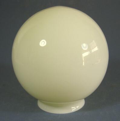 Vintage art deco cased yellow glass ceiling light/diana lamp shade ball/round