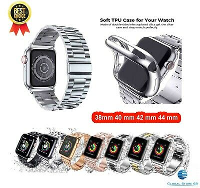 For Apple Watch Series 5 4 3 21 38/42 Stainless Steel Bracelet iWatch Band Strap