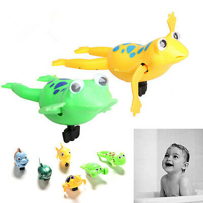 Shower Kids Bath Toys Plastic Baby Wind Up Clockwork Swimming Cartoon Toy RS HU