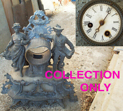 French Antique Clock for Spares or Repair.
