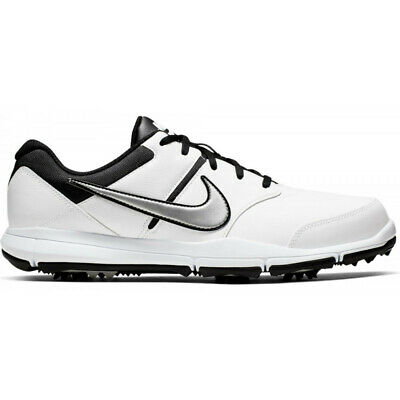 New Mens Nike Durasport 4 Golf Shoes White / Silver / Black Size 10.5 M