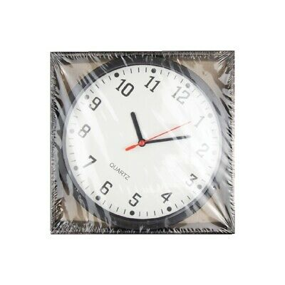 Quartz Black Small Wall Clock Analogue Round Wall Clock Home Kitchen Bedroom