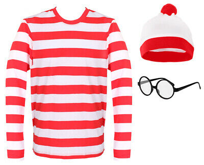 Find Me Book Character Costume World School Book Day Adults Kids Fancy Dress