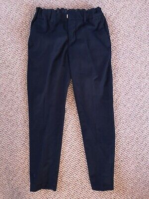 H&M Younger Boys Smart Skinny Fit Navy Blue Suit Trousers Age 8-9 Wedding Outfit
