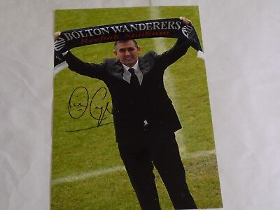"* SALE * OWEN COYLE  10x8"" BOLTON WANDERERS PHOTO SIGNED / BLACKBURN  * SALE *"