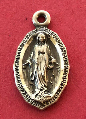 Vintage Catholic Religious Medal - HMH STERLING - MIRACULOUS // SWEET & PETITE