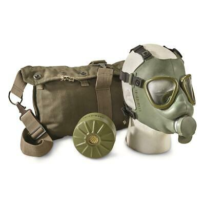 M1 Gas Mask with Bag Serbian Military Surplus Issue w/ Waterproof Bag Adjustable