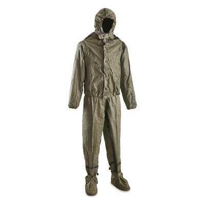 Rubberized NBC Chemical Suit Large Dutch Military Surplus Issue Elastic Collect