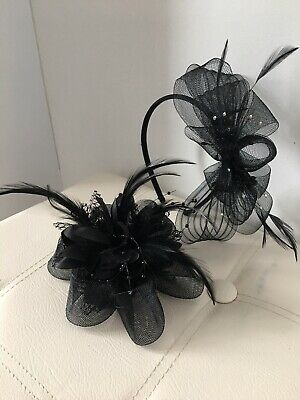2 Black Fascinators