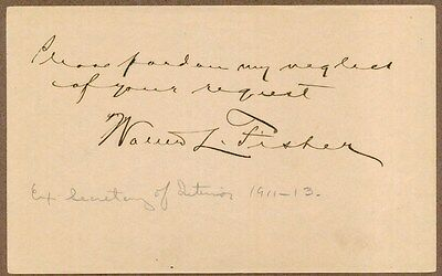 Walter L. Fisher, Interior Secretary, Signed Album Page, COA, UACC RD 036