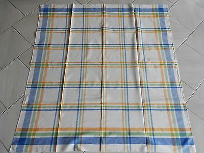 VINTAGE French COTTON traditional Country striped TABLECLOTH  60""