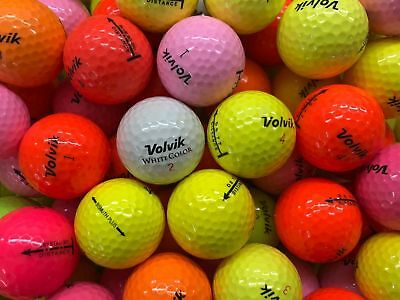 24 Mixed VOLVIK COLOURED Lake Golf Balls - PEARL / GRADE AAA - from Ace Golf