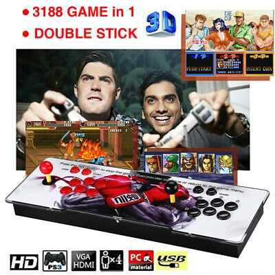 12 3188-In-1 Video Games Retro Arcade Console Device For 4 Players
