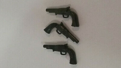Playmobil lot 3 pistolets pour cowboy tuniques bleu saloon sheriff ranch
