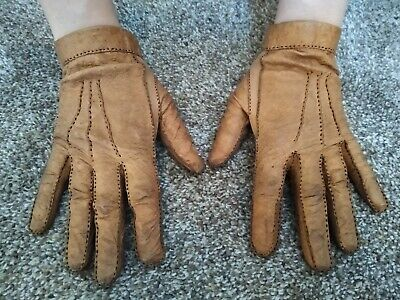 Vintage Women's Leather Driving Gloves Small
