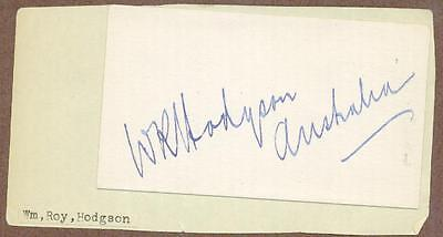 William Roy Hodgson, Australian Soldier, Diplomat, Public Servant, Signed Card