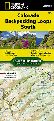 National Geographic TI Colorado Backpack Loops South Topographic Map Guide