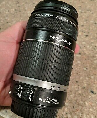 Canon EF-S 55-250mm F/4-5.6 IS Telephoto Zoom Lens, unused for years