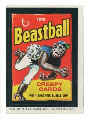 1975 Wacky Packages Series 13    BEASTBALL   Tan Back