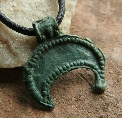 Small lunar Viking artifact in a beautiful green patina Kievan Rus 10-11 AD