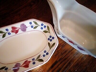 Adams Old Colonial Gravy Boat And Stand
