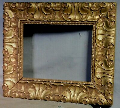 Antique Victorian Aesthetic Early Arts Crafts Picture FRame Gilt Gesso 8x10 1905