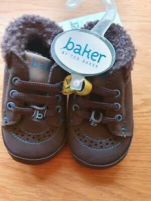 BNWT Boys Baker By Ted Baker Baby Shoes 0-3 Months