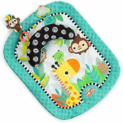 Bright Starts Tummy Mat Refresh Rattles Playmat Prop Pillow Toy Set Tummy Time