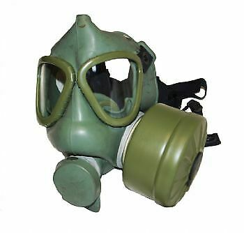 Genuine Yugoslavian Military Army Surplus Gas Mask And Filter Fetish Rubber