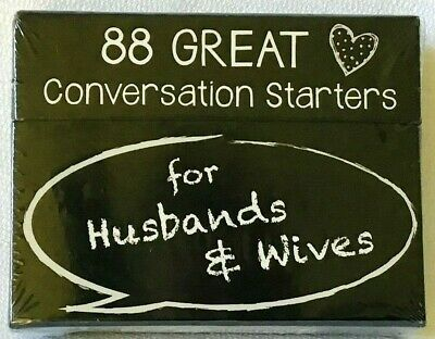 88 Great Conversation Starters for Husbands & Wifes and Couples Card Game NIB
