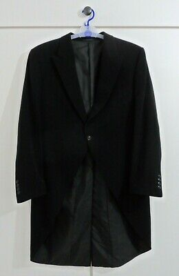 * VGC Wilvorst Black Classic Morning Suit Tail Coat Jacket Blazer 44 R Regular *