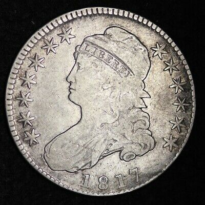 1817 Capped Bust Half Dollar CHOICE FINE FREE SHIPPING E340 RBT