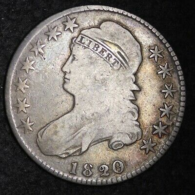 1820/19 Capped Bust Half Dollar CHOICE FINE FREE SHIPPING E344 KCNT