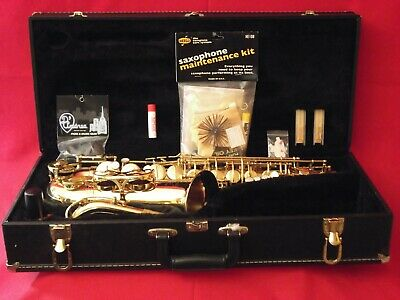 Evette Alto Saxophone+Hard Case+Reeds+New Strap+New Mouthpiece