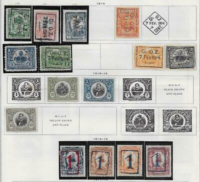 15 Haiti Stamps from Quality Old Album 1914-1916