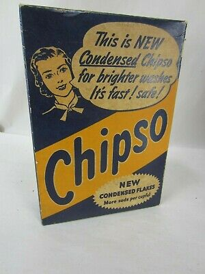 Vintage Chipso Laundry Soap Box Unopened